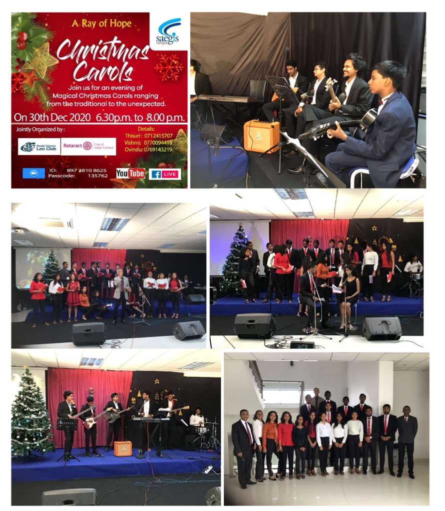 """SAEGIS VIRTUAL CHRISTMAS CAROLS """"A RAY OF HOPE"""" ENDS IN A POSITIVE NOTE"""