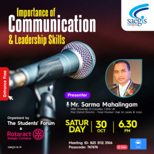 Read more about the article Importance of Communication and Leadership Skills – Online Webinar 2021